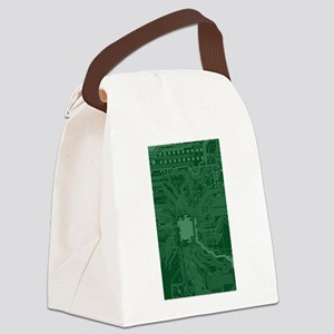 Green Geek Motherboard Circuit Pa Canvas Lunch Bag