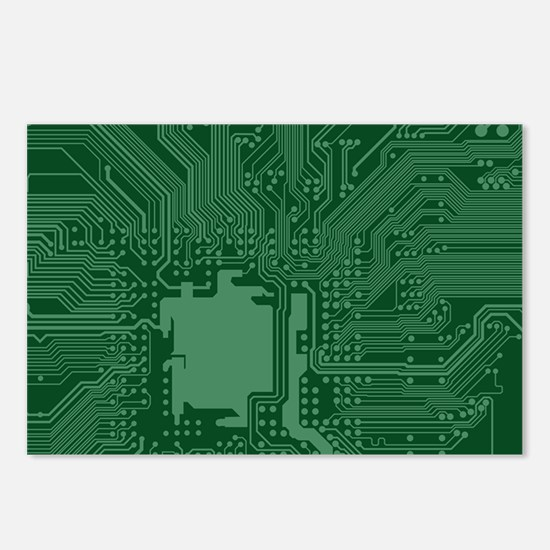 Green Geek Motherboard Ci Postcards (Package of 8)