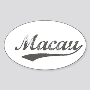 Macau Flanger Oval Sticker