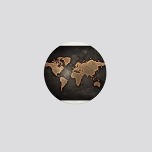 World Map Mini Button