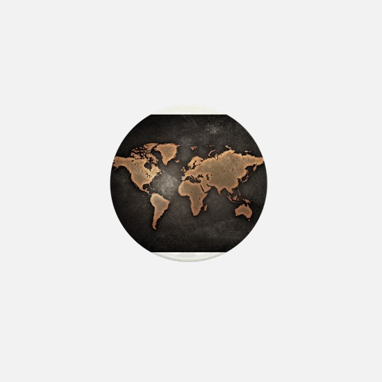 World Map Mini Button