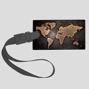 World Map Large Luggage Tag