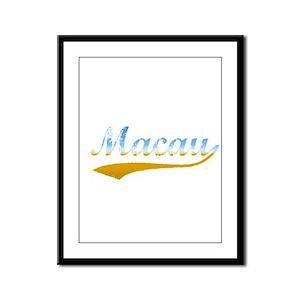 Beach Macau Framed Panel Print