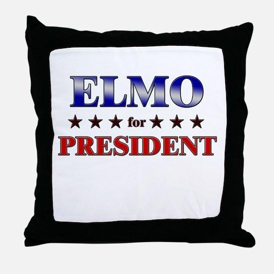 ELMO for president Throw Pillow