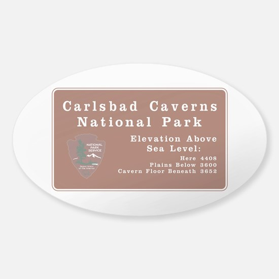 Carlsbad Caverns National Park, New Sticker (Oval)