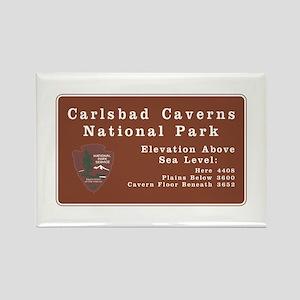 Carlsbad Caverns National Park, N Rectangle Magnet