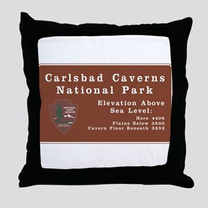 Carlsbad Caverns National Park, New M Throw Pillow
