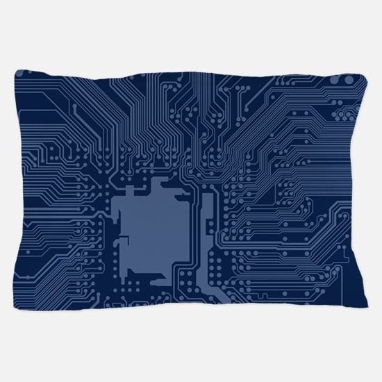 Blue Geek Motherboard Circuit Pattern Pillow Case