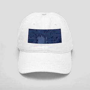 Blue Geek Motherboard Circuit Pattern Cap
