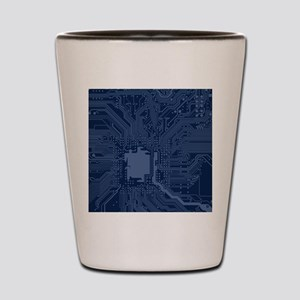 Blue Geek Motherboard Circuit Pattern Shot Glass