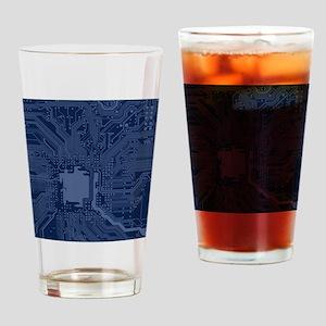 Blue Geek Motherboard Circuit Patte Drinking Glass