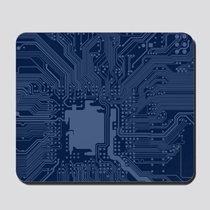Blue Geek Motherboard Circuit Pattern Mousepad