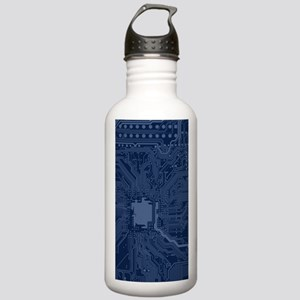 Blue Geek Motherboard Stainless Water Bottle 1.0L