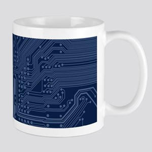 Blue Geek Motherboard Circuit Pattern Mugs