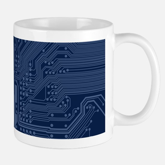 Blue Geek Motherboard Circuit Pattern Mugs