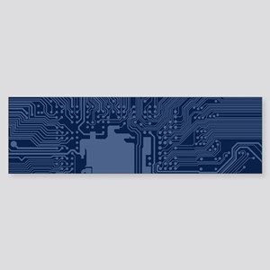 Blue Geek Motherboard Circuit Patte Bumper Sticker
