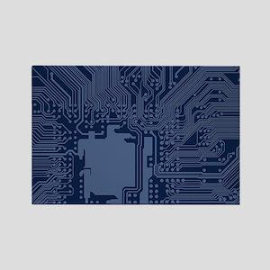 Blue Geek Motherboard Circuit Pattern Magnets