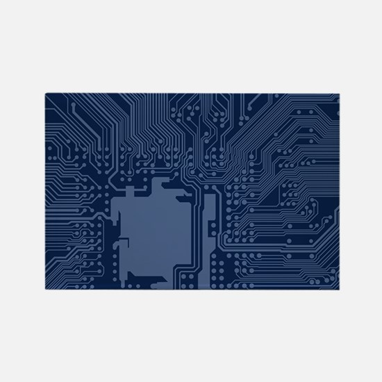 Blue Geek Motherboard Circuit Pattern Magnets
