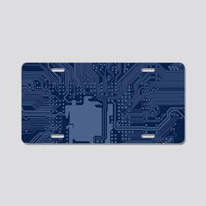 Blue Geek Motherboard Circu Aluminum License Plate