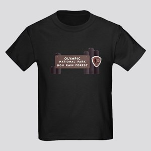 Hoh Rainforest-Olympic National Kids Dark T-Shirt