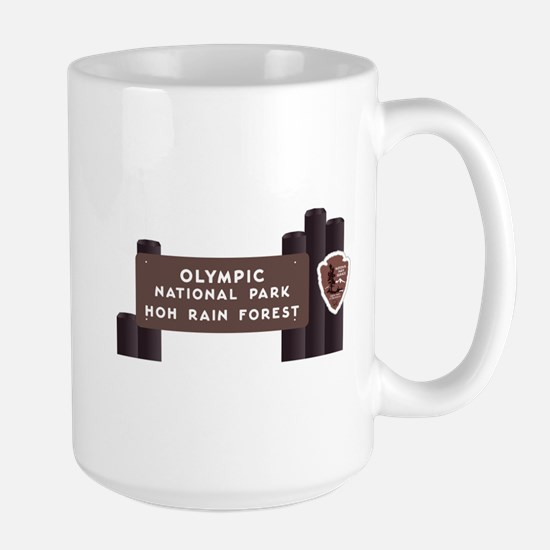 Hoh Rainforest-Olympic National Park, W Large Mug