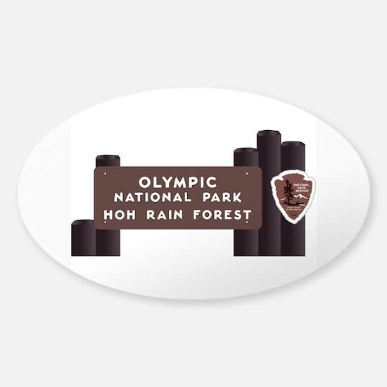Hoh Rainforest-Olympic National Par Sticker (Oval)