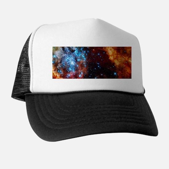 Orange Nebula Trucker Hat