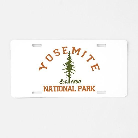 Yosemite. Aluminum License Plate