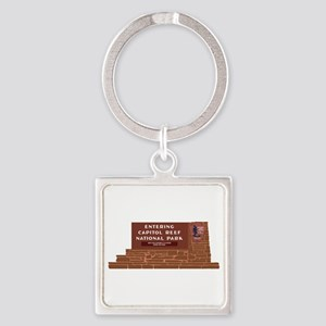 """""""Entering Capitol Reef National Pa Square Keychain"""