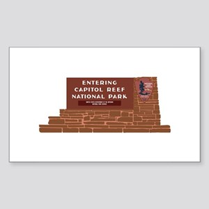 """""""Entering Capitol Reef Nationa Sticker (Rectangle)"""