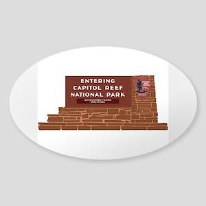 """Entering Capitol Reef National Par Sticker (Oval)"