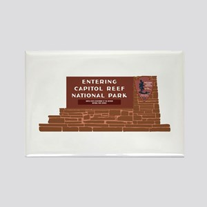 """Entering Capitol Reef National P Rectangle Magnet"