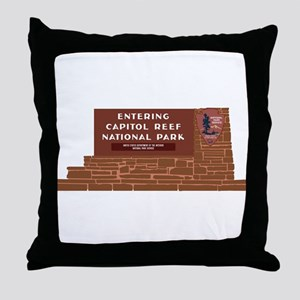 """""""Entering Capitol Reef National Park"""" Throw Pillow"""