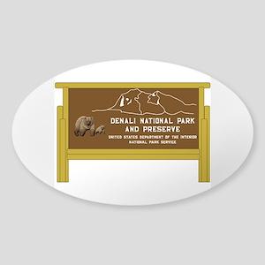 Denali National Park and Preserve, Sticker (Oval)