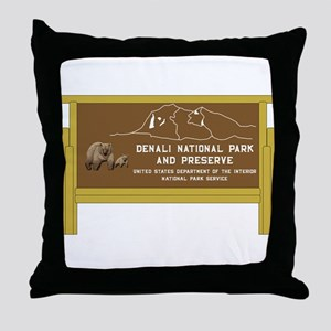 Denali National Park and Preserve, Al Throw Pillow