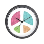 Stencil Peace Wall Clock