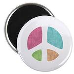 Stencil Peace Magnet