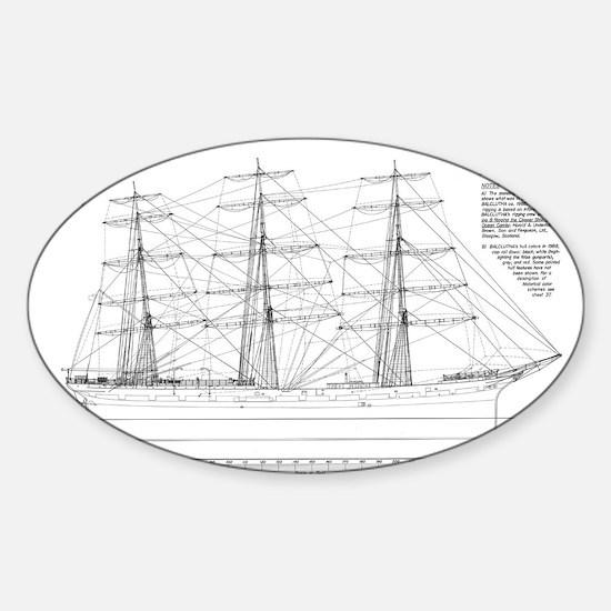 Balclutha Ship Outboard Profile Diagram Decal