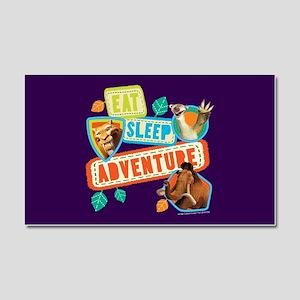 Ice Age Eat Sleep Adventure Car Magnet 20 x 12