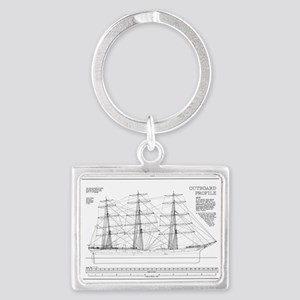 Balclutha Ship Outboard Profile Diagram Keychains