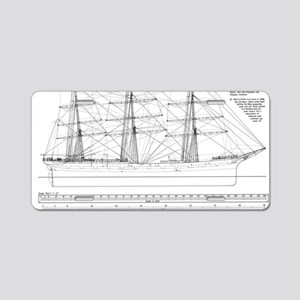 Balclutha Ship Outboard Pro Aluminum License Plate