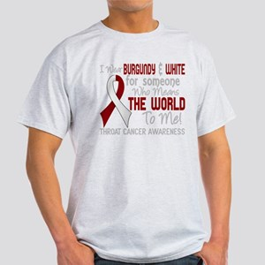 - Throat Cancer Means World To Me 2D T-Shirt