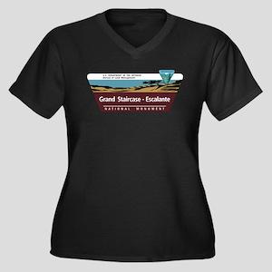 Grand Stairc Women's Plus Size V-Neck Dark T-Shirt