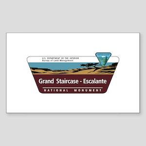 Grand Staircase-Escalante Nati Sticker (Rectangle)