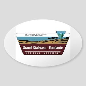 Grand Staircase-Escalante National Sticker (Oval)