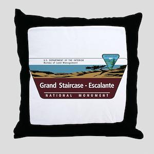 Grand Staircase-Escalante National Mo Throw Pillow