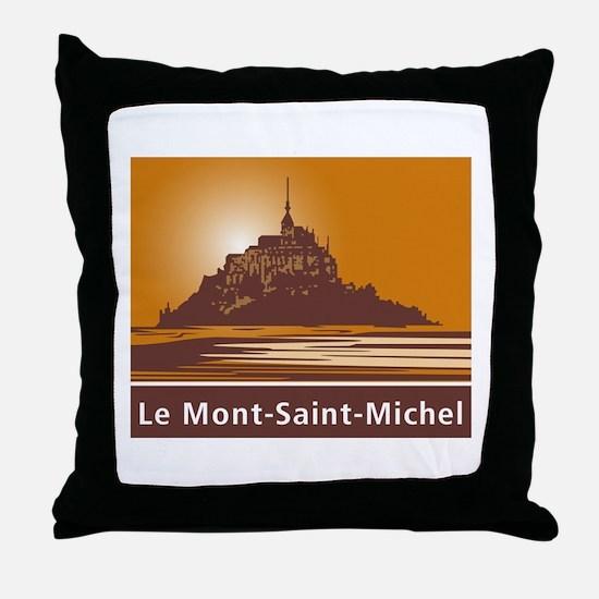 Mont Saint-Michel, France Throw Pillow