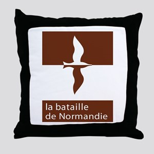 """The Battle of Normandy"", France Throw Pillow"
