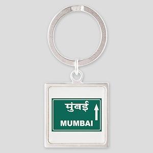 Mumbai (Bombay), India Square Keychain