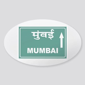 Mumbai (Bombay), India Sticker (Oval)